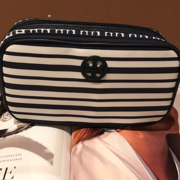 Tory Burch Handbags - AUTHENTIC TORY BURCH LARGE TWIN COSMETICS CASE